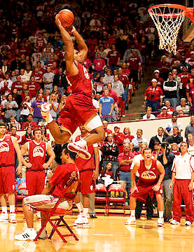 Steven Gambles dunks over a guy in a chair!